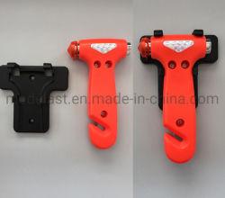 Выход шины автомобиля безопасности инструмента молотком 2-в-1 аварийный молоток с ремня режущего аппарата