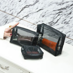 黒い純装飾的な袋の方法女性旅行透過洗面用品の洗浄オルガナイザーの箱のお母さんのための携帯用構成の袋のギフト