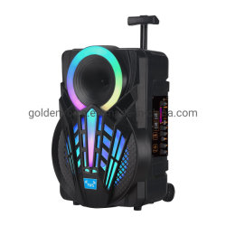 Профессиональная аудио тележка HiFi портативная беспроводная Bluetooth PA звук вне помещений Сценический DJ-динамик Party Dance с легким активным громкоговорителем GZ-P08