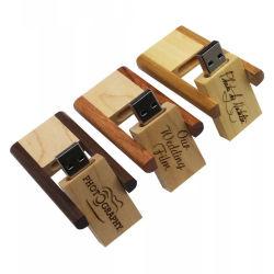 Preiswerter Mikrostock hölzerner Kasten-schneller Geschwindigkeits-Speicher-Schwenker USB2.0 Pendrive USB-Blitz-Laufwerk USB-32GB 64GB 16GB 8GB 4GB