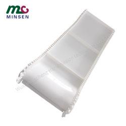 Fabricante de PVC do defletor da saia branca personalizada / PU Grau Alimentício subir o tapete de transporte