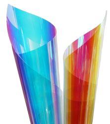La decoración de vinilo de artesanía de Cristal Arco Iris de PVC de la película de vinilo autoadhesivo