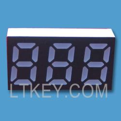 LED de três algarismos 7 Visor do segmento