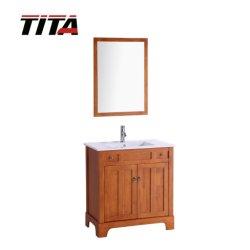 Gabinete de vanidades de baño/Madera Lavabo Stand/Madera Muebles de Baño T9121
