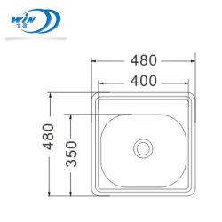 Qualität-kleine Edelstahl-Küche-Wanne Foshan-Wenying für Stab-Gebrauch 480*480mm