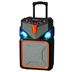 実行中の携帯用可聴周波Bluetooth MP3プレーヤーの無線トロリー屋外党FMのラジオが付いている音楽によって動力を与えられるスピーカー健全なボックス