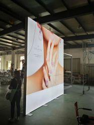 Toont de Vrije Bevindende Handel van het aluminium Tentoonstelling Backlit LEIDENE Stof van Frameless Lichte Doos