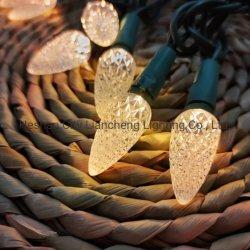 C6 다이아몬드 스트로베리 100L 따뜻한 화이트 미니 조명 장식 파티 크리스마스 PET LED 램프