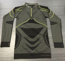人のスポーツ上のスポーツ・ウェアを循環させるレギングを実行する2部分のスーツの体操の摩耗の適性の用品類