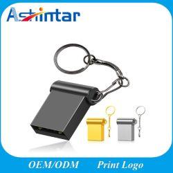 사용자 지정 로고 암호화 USB 스틱 펜 드라이브 4GB 8GB 16GB 32GB 128g USB2.0 Super Mini Metal USB 플래시 드라이브