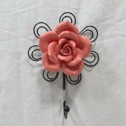 Красный фарфора цветок ручной работы