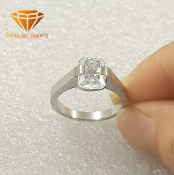 方法銀製の宝石類のステンレス鋼の宝石類単一CZ  女性SSR2073のためのジルコンの宝石類ライン切口のリング