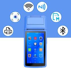 58мм Android сенсорный экран небольшой POS терминал со штриховым кодом Mobile получения Портативный принтер