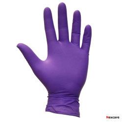 Het medische Dagelijkse Nitril van het Onderzoek van het Latex van de Kleur van het Gebruik Blauwe Vrije Beschermende Beschikbare/het Nitril Vinyl handschoen-C0316 van het Mengsel