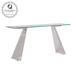 熱い販売現代様式の緩和されたガラスのコンソールテーブルの居間の家具