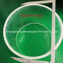 Настраиваемые Larege диаметр трубы из кварцевого стекла