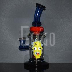 Esigo Glass 장식 컬러 DAB Rig 솜킹 파이프 유리 물 파이프