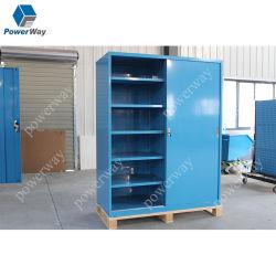 Porte coulissante métallique Powerway étagère Armoire de stockage de l'outil