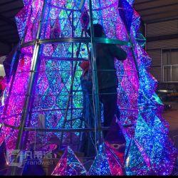 Acrílico gigante cerámica iluminado árbol de Navidad / árbol de Navidad Navidad Decoración de arco