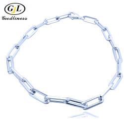 Conception simple de gros de bijoux en argent de la chaîne en laiton personnalisée Fashion Bracelet