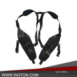 범용 더블 라디오 어깨 가슴 하네스 백 팩 파우치 홀스터 Motorola Walkie Talkie Carry 케이스용 조끼 장비