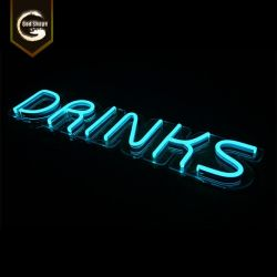 O bar de cerveja de plástico de acrílico personalizados Contratante Restaurante Sinal Neon decorativa