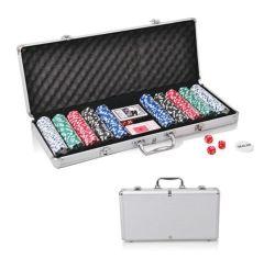 500 PCS 11,5g ABS Casino Poker conjuntos de chips com canto arredondado a Metal Box caixa de alumínio Mala com embalagem da caixa de Cor