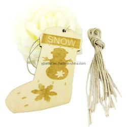 Legno Carving Craft albero di Natale Hanging decorazione ornamento