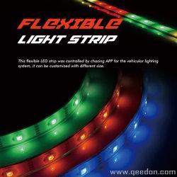 APP контролируемых гибкой смены цветов RGB 5050 Полосы света комплект для автомобиля на лодке дома с 4-зон контроллера