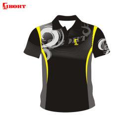 Aibortの方法デザイン黒の昇華人のポロシャツ(A-HD217)