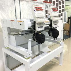 2 Kopf computergesteuerte Monogramm-Stickerei-Maschine für Schutzkappen-und Shirt-Stickerei
