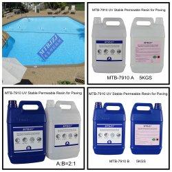 La resina epoxy para la piscina cubierta permeable al agua de fácil limpieza