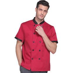Custom Hotel Chef uniformes con logotipo bordado Restaurante Cocina Ropa de trabajo