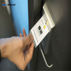 Scheda in bianco di PVC/Polycarbonate NFC di prossimità RFID dei sistemi astuti senza contatto di accesso, scheda di chip del Fudan F08 per la scheda di chiave di catenacci del portello dell'hotel