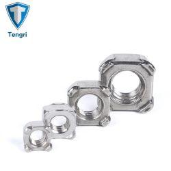 صامولة زنك مطلية، من الفولاذ المقاوم للصدأ DIN928 صمولة مربع لحام صمولة صمولة شفاه الأثاث صمولة سداسية صمولة نيلون قفل صمولة سداسية للصناعة