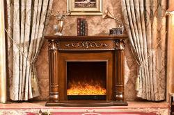 Elegante/MDF requintados Lareira de madeira a Mantel com Hearth para venda na sala branca grossista/castanho lareira para decoração de casa