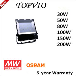 디스트리뷰터 에너지 절약 램프 LED 80W 100W 투광램프 옥외 산업 갱도 LED 투광램프