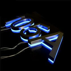 Kundenspezifische Edelstahl-Kanal-Zeichen-Zeichen-LED geleuchtete Hausnummern