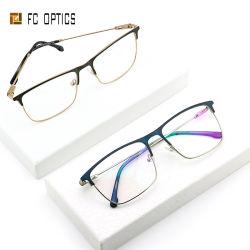 2020년 Mido 정연한 눈썹 두 배 색깔 아세테이트 끝 금속 프레임 여자 남자 Specs 디자이너 Eyewear 고양이 가관 안경알 유리 Eyewear