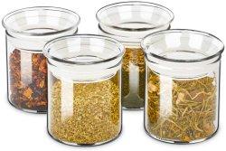 Vetreria ermetica in vetro da 10 once con set di contenitori in vetro hot selling Con coperchi in vetro per contenitori di conservazione in vetro