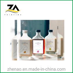Personalizar a impressão da etiqueta adesiva impermeável para garrafas
