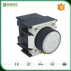Luchtvertragingskop 0.1-30s La2-DT2 Vertragingscontact contactor zilverpunt Vertragingstimer voor extra blokken