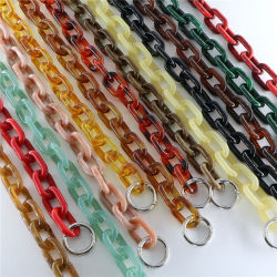 標準的な予約のアクリルのチェーンアクセサリの樹脂の鎖の女性袋の卸売の市場