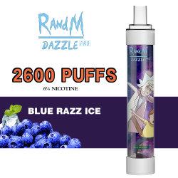 Randm Dazzle PRO 2600bocanadas Azul hielo Razz