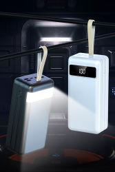 60000مللي أمبير/ساعة Power Bank طاقة شاحن الهاتف المحمول عالية السعة بشكل فائق إمداد بثلاثة مداخل من النوع C Micro وخرج USB مزدوج