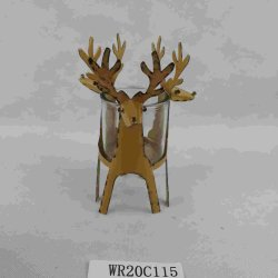 Commerce de gros de haute qualité Bougeoir métalliques décoratifs avec le verre