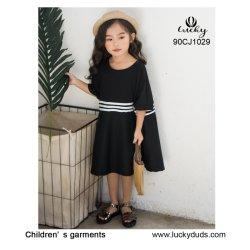 Les jupes enfant Coton noir de gros de vêtements pour enfants