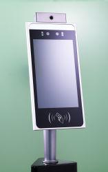 Thermomètre infrarouge intelligent 8 pouces de l'imagerie scanner avec Ia porte tourniquet de reconnaissance de visage de l'accès (température corporelle de dépistage et de système de détection de la fièvre)