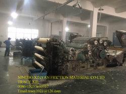 Isentas de amianto Tecidos de rolos de guarnições de travões para a indústria de mineração