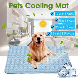 Hundematten-abkühlende Sommer-Auflage-Matte für Hundekatze-Zudecke-Sofa-den Breathable Haustier-Hundebett-Sommer waschbar für kleines mittelgrosses Hundeauto